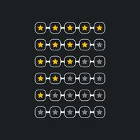 creative star rating symbol for black theme