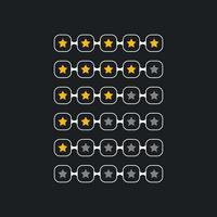 kreatives Sternbewertungssymbol für schwarzes Thema
