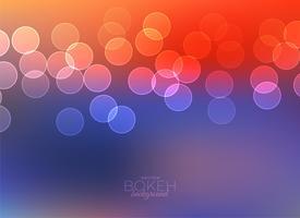 färgrik bokeh ljus vektor bakgrund
