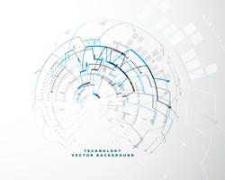 Fondo de tecnología con malla de alambre abstracta