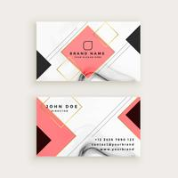 professional marble business card with diamond shape