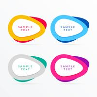 set of colorful banner with text space