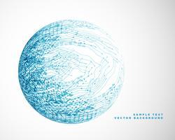 design de malha de arame de tecnologia azul