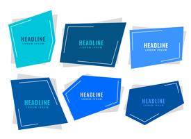 blue paper style tags with text space