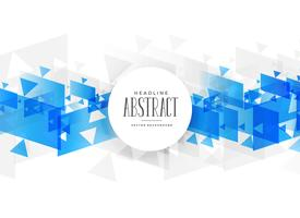 abstract blue shapes on white background