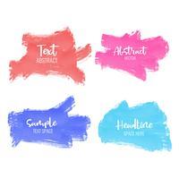 uppsättning färgstarka penselslag