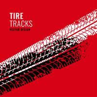 fond rouge avec marque de traces de pneus
