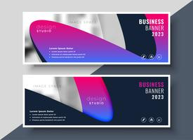 vibrant modern business banners with image space