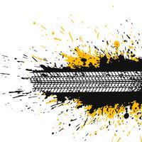 abstrakter Splatterhintergrund mit Reifenspur
