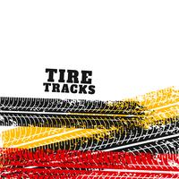 tire track marks backgorund in different colors
