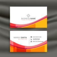 awesome colorful wave business card design