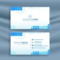 blue mosaic style business card template