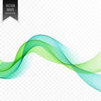green wavy abstract wave background