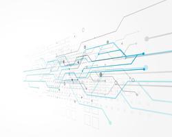 abstrakt teknologi konceptdesign med trådnät