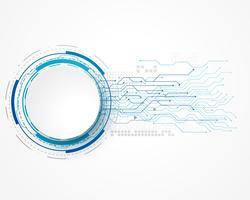 Technologiekonzepthintergrund mit Maschendraht und Textraum