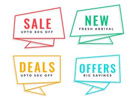 four line origami style sale banner