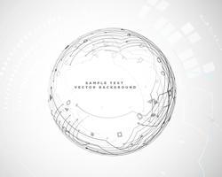 circulaire abstracte technologie schakelschema