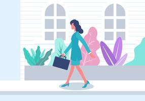 Professional Woman Vector Illustration