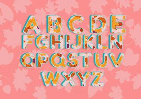 Vecteur d'automne Alphabet Illustration