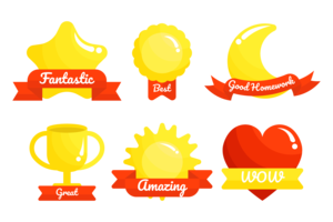 Teacher Reward Sticker Vector