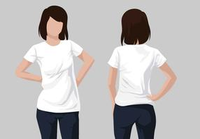 Camiseta modelo vetorial