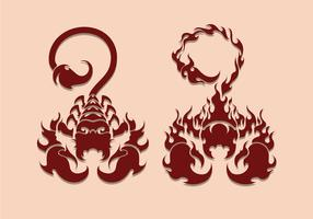 Scorpion Tatuering Illustration