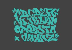 Graffiti-Alphabet-Vektor-Illustration