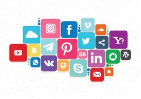 Social Media Icons Set Vol 2 Vector