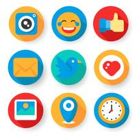 sociale media iconen vector
