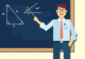 Math Teacher Vector Illustration