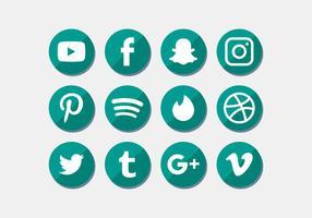 Sociala Media Ikoner Sätta Vektor
