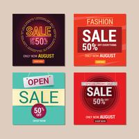 Set of Sale Instagram Template Design for Sale Promotion
