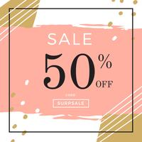 Instagram Sale Template Peach Vector