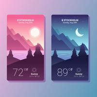 Weather App Screens Vector
