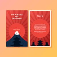 Fuji Japanese Style Invitation Template Vector