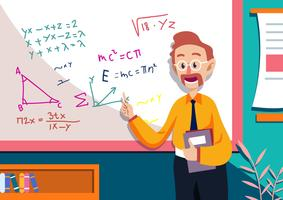 Mathe-Lehrer-Illustration
