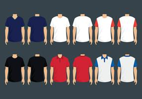 T-Shirt-Modell-Vektor-Set