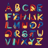 School Themed Alphabet