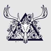 Cráneo de ciervo