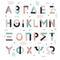 Alfabeto Grego Estilo Memphis