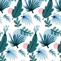 Lovely Pattern With Leaves And Flowers  vector