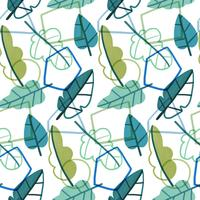 Geometric And Botanical Pattern