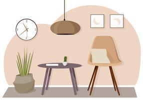 Vector habitación y muebles ilustración