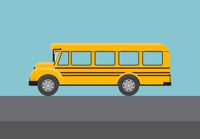 Illustration vectorielle de bus scolaire