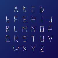 Anordnung für Bleistifte Schule Themed Alphabet Vector