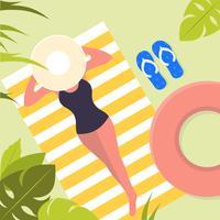 Vector Beautiful Summer Illustration