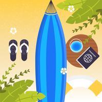 Vector ilustración de accesorios de verano