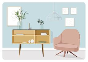 Vector Living Room Illustration