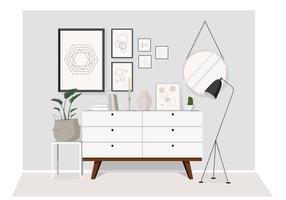 Ilustração de mobília de sala de vetor