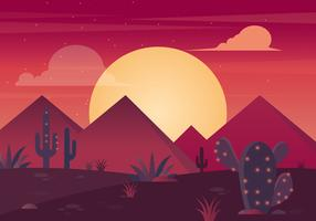 Vector Beautiful Desert Illustration